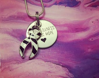 EDS/Zebra Chronic Hope Awareness Necklace *