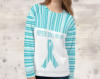 All Over Print Professional Patient/Turquoise Sweatshirt