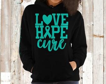 Myasthenia Gravis/Love Hope Cure Hoodie