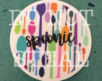 Spoonie Spoons Clear Sticker *