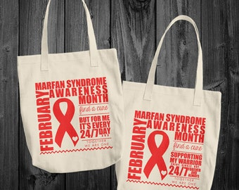 February/Marfan Syndrome Awareness Month Tote Bag