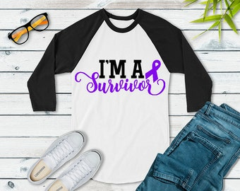 I'm A Survivor (Purple) Raglan