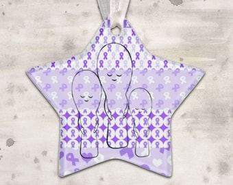 Spoonie Family Star Christmas Ornament - YOUR COLOR *