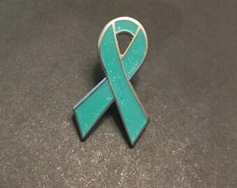 Sparkle Turquoise Awareness Pin/Enamel *