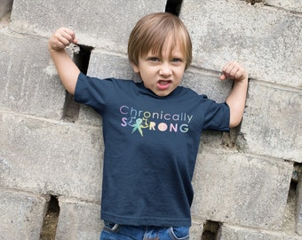 Chronically Strong Rainbow Watercolor Kids Shirt - YOUR COLOR SHIRT