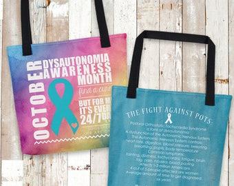 October Dysautonomia/POTS FactsAwareness Month Tote Bag