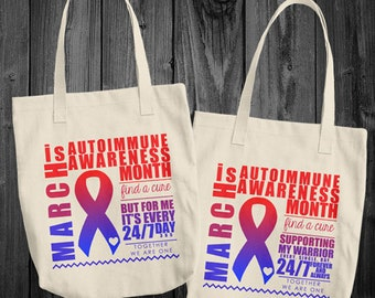 March/Autoimmune Awareness Month Tote Bag