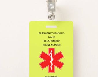 Emergency Card Clip Two Sided *