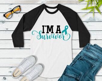 I'm A Survivor (Turquoise) Raglan
