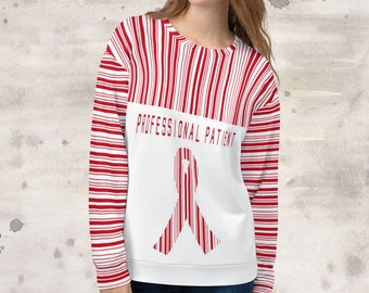 All Over Print Professional Patient/Red Sweatshirt