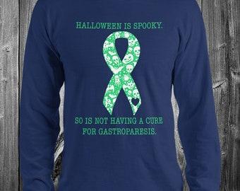 Gastroparesis/Spooky Halloween Adult Longsleeve Shirt