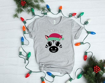 Rudolph's Girl Zebra - YOUR SHIRT COLOR