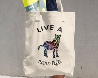 Two Sided Rare Life Zebra Bag