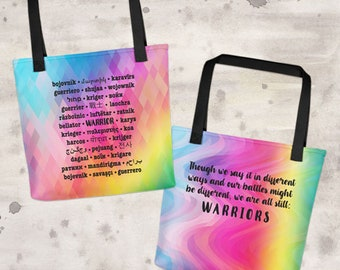 Warrior Languages Tote Bag