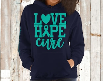 Trigeminal Neuralgia/Love Hope Cure Hoodie