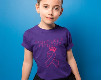 Fight Like A Princess Kids Shirt - YOUR COLOR SHIRT