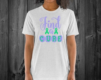Find A Cure (Green) Adult Shirt - YOUR COLOR SHIRT