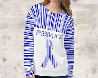 All Over Print Professional Patient/Blue Sweatshirt