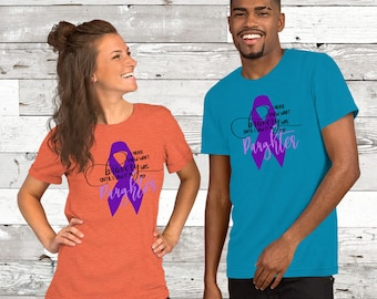 Never Knew Bravery Until I Saw It In My Daughter (Purple) Adult Shirt - YOUR COLOR SHIRT