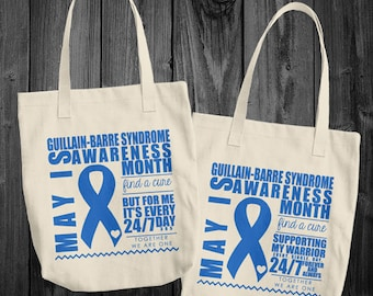 May/Guillain-Barre Syndrome Awareness Month Tote Bag