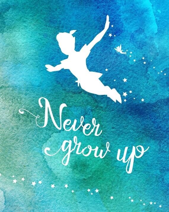 Peter Pan Pixie Dust Never Grow Up Tinkerbell Disney Walt Etsy