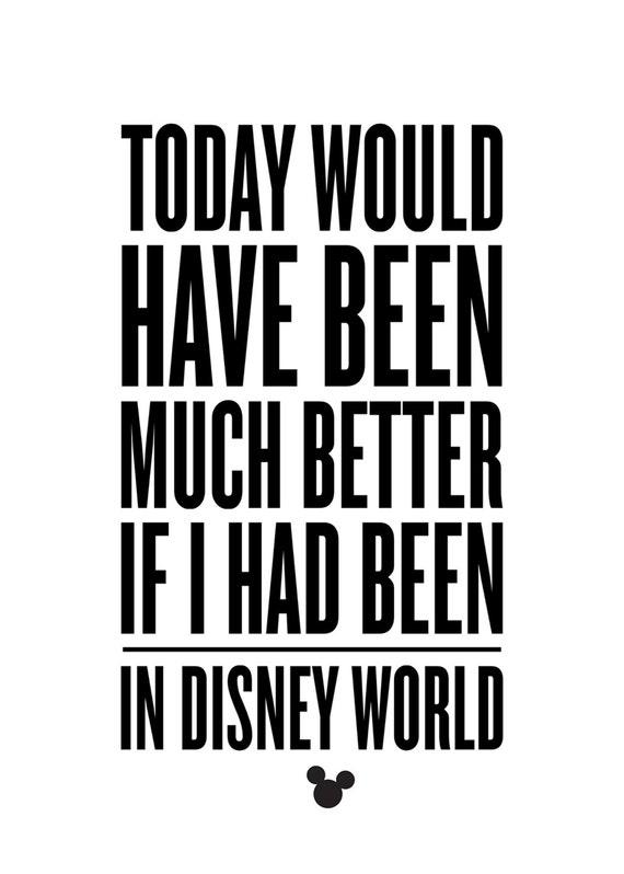 Disney, Walt Disney, Disney World, Quote, Typography, Wall Art, Mickey  Mouse, Orlando