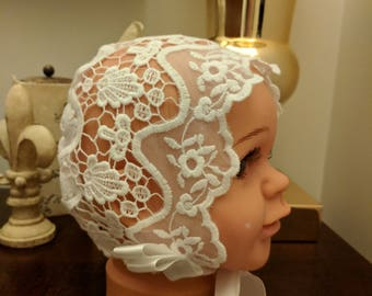 Variety of Summer Sofia Bonnets, Extra Small, lace