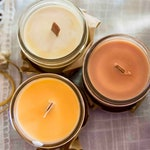 Firewood / Campfire candle  - Soy wax & cedar wood tick in a small masson jar (Natural, Vagan, Eco-responsable)