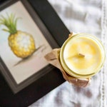 Pineapple Candle - Soy wax & cedar wood tick in a small masson jar (Natural, Vagan, Eco-responsable)