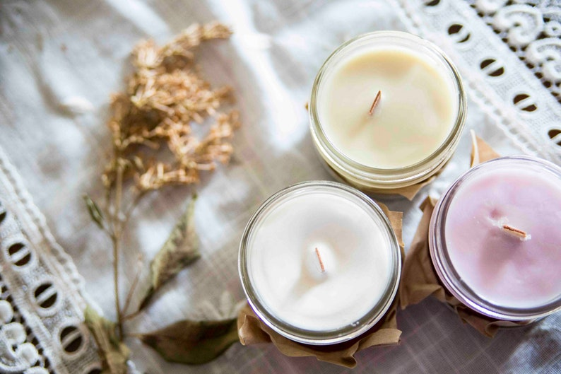 Morning Dew candle   Soy wax & cedar wood tick in a small image 0