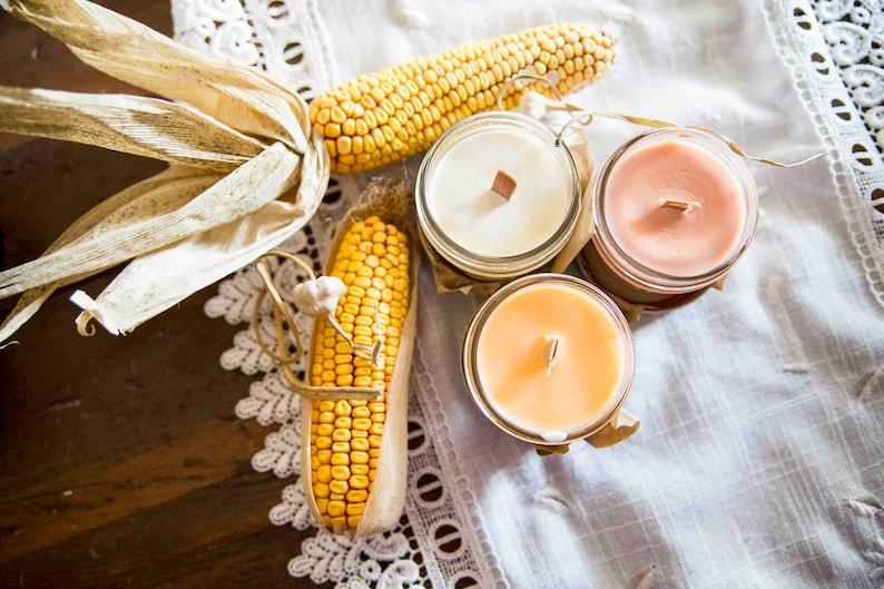 Vanilla candle 6 smells  Soy wax & cedar wood tick in a image 0