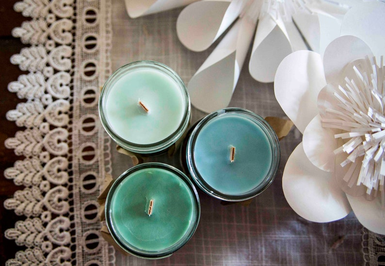 Bamboo and Teak candle   Soy wax & cedar wood tick in a small image 0