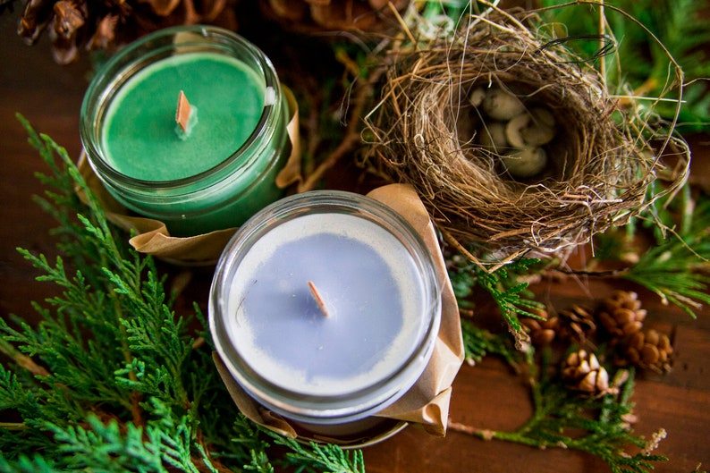 Mapple Sirup candle   Soy wax & cedar wood tick in a small image 0