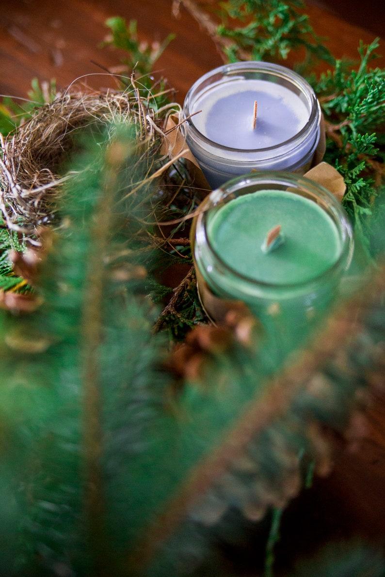 Champaka / Nag Champa  candle  Soy wax & cedar wood tick in a image 0