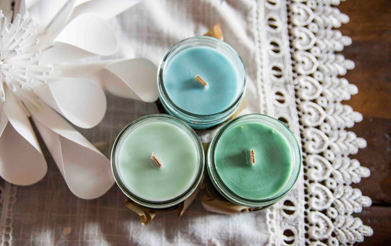 Irish Spring candle   Soy wax & cedar wood tick in a small image 0
