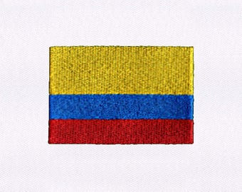 National Flag Of Colombia Embroidery Design | 4x4 Hoop Embroidery Design |  Machine Embroidery Design | Embroidery Designs | DigitEmb Design