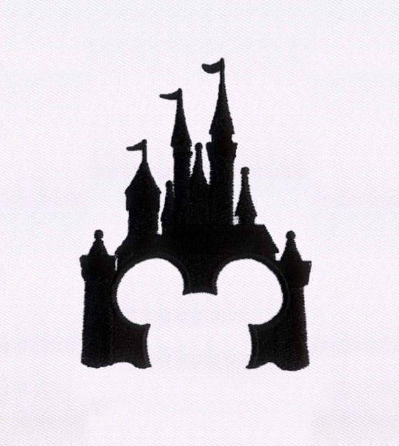 Schatten-Disney-Schloss digitale Stickmuster   Etsy