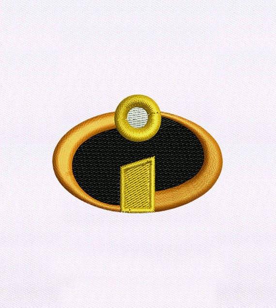 Incredibles Incredible Logo Embroidery Design 4x4 Hoop Etsy