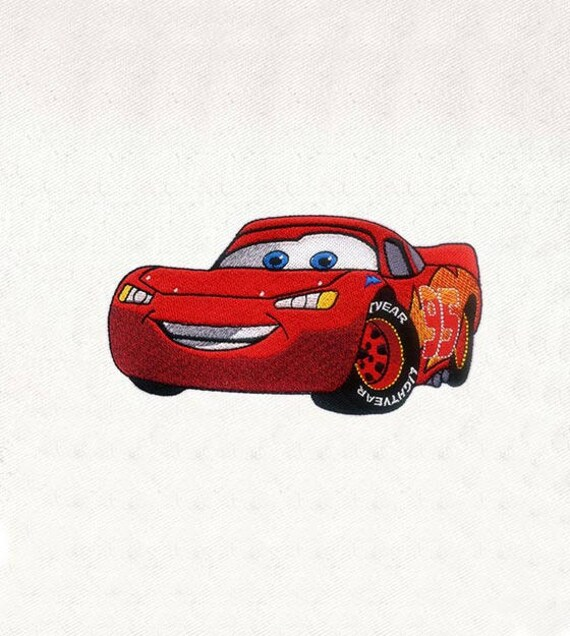 Cars Lightning McQueen Machine Embroidery Design