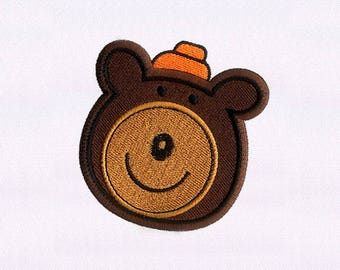 Smiling Bear Face Digital Embroidery Design