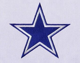 Sparkling Blue Star Digital Embroidery Design