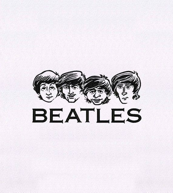 Caricature Of Beatles Embroidery Design 4x4 Hoop Embroidery Etsy