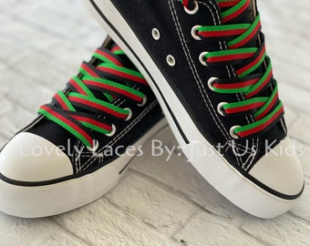 Pan African shoelaces for Sneakers, Jamaican Flag Shoelaces