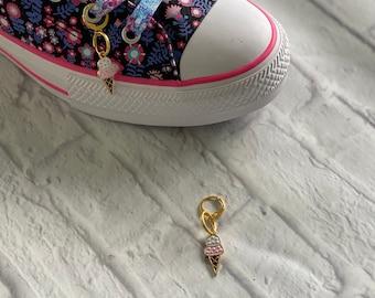 Ice Cream Cone Bracelet Charm