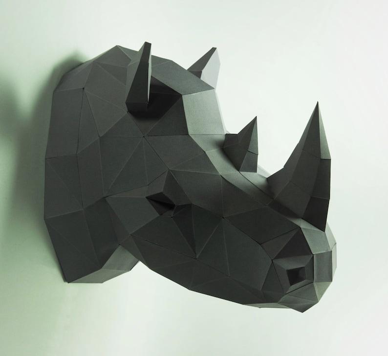 Rhino Head Animal Head Rhinoceros Head Rhino mask image 0