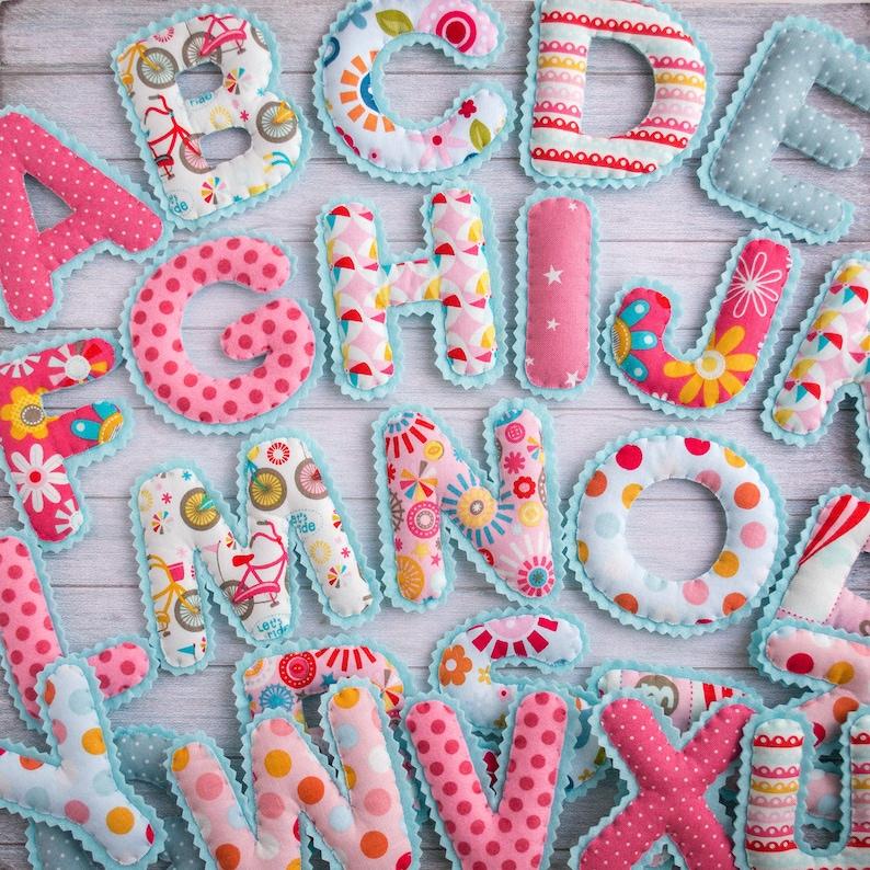 Kids alphabet Magnet letters alphabet Fabric letters ABC image 0