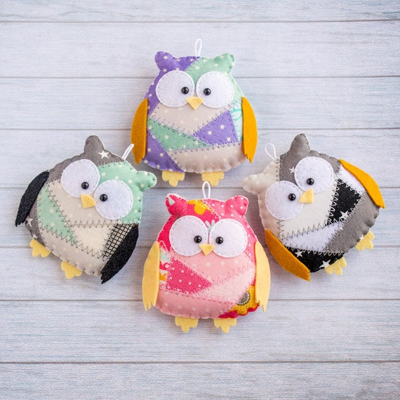 Owl gift animal ornament keychain owl favor owl party favor hibou cute keychain mom keyring pendant owl figurine kid keychain backpack charm