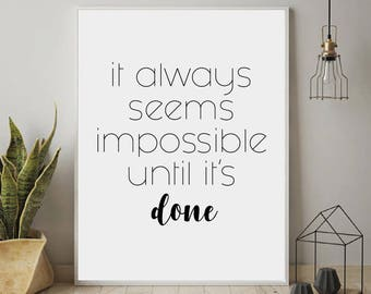 Inspirational Wall Art, Motivational Wall Decor, Inspirational Quotes, Motivational Poster, Typography Motivational Quotes, Modern Wall Art