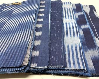 Indigo fabrics 10 pieces of Bingo Fushiori for patchwork