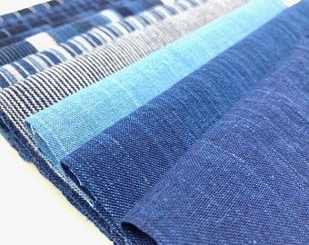 Indigo fabrics 10 pieces of Matsusaka cotton for patchwork